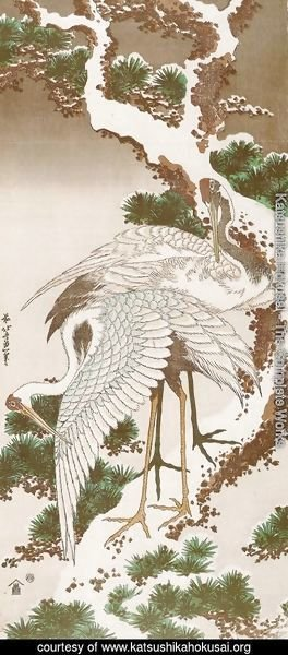 cranes-on-a-snowy-pine